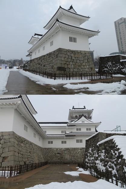 富山城(市営富山城址公園)鉄門 ・模擬天守