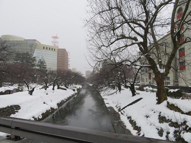 塩倉橋上より松川(富山市)