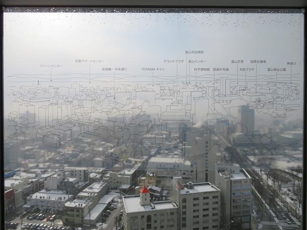 富山市役所展望塔より