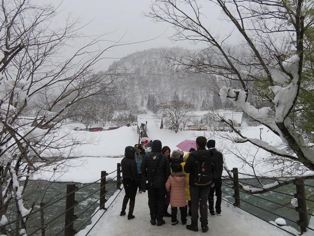 白川郷(岐阜県白川村)であい橋