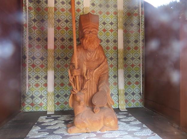 妙隆寺/千葉屋敷跡(鎌倉市)小祠内 寿老人木像