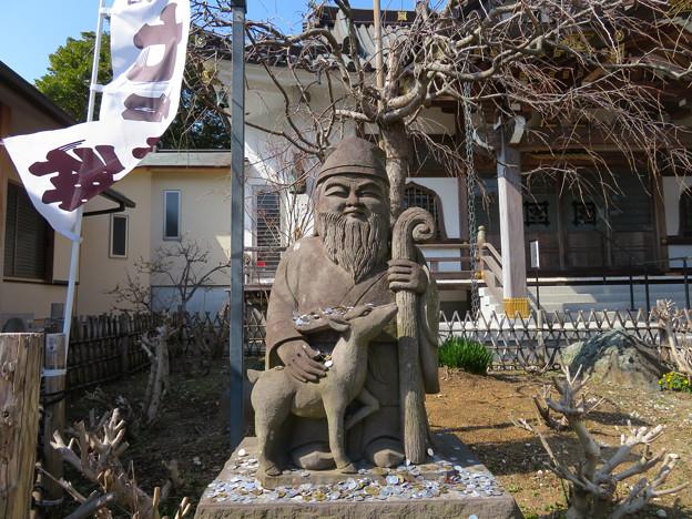 妙隆寺/千葉屋敷跡(鎌倉市)境内 寿老人石像