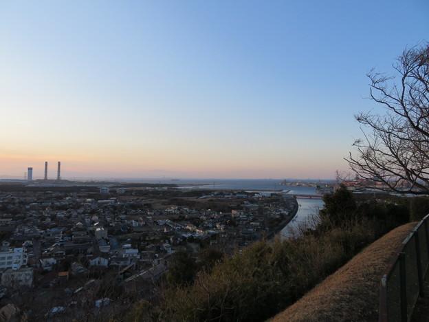 人見神社(君津市)より北西