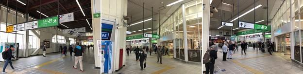 藤沢駅北口~コンコース・改札前(藤沢市)