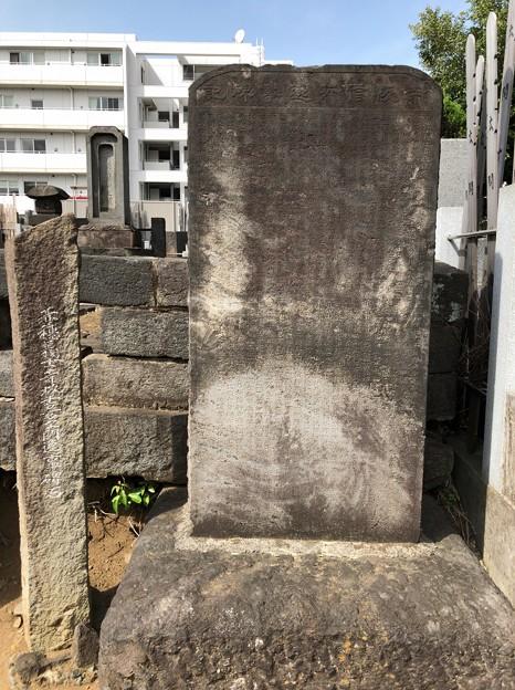 曹渓寺(南麻布)赤穂浪士 寺坂吉右衛門逸事碑石