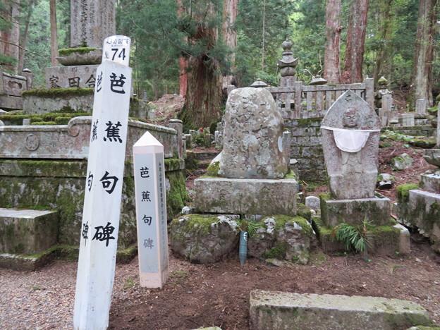 高野山金剛峯寺 奥の院(高野町)芭蕉句碑