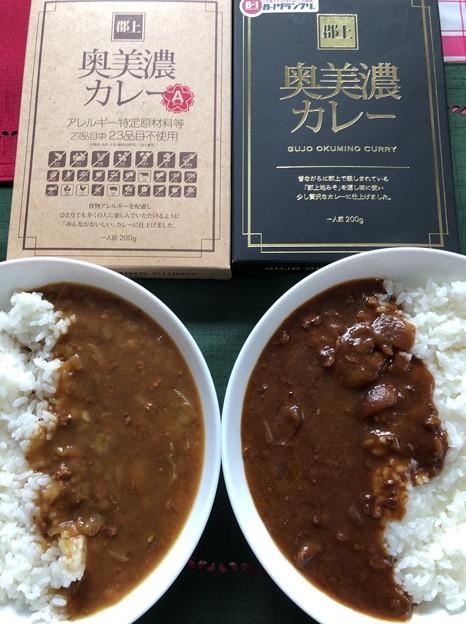 奥美濃カレー食べ比べ(゜▽、゜)