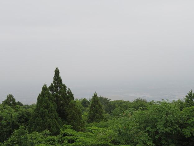 関ヶ原合戦 毛利秀元陣跡(垂井町)より東