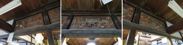山の寺寺院群 本行寺(七尾市)欄間