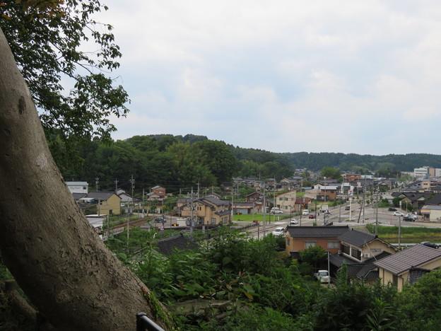 小丸山城(七尾市営 小丸山城址公園)より山の寺寺院群