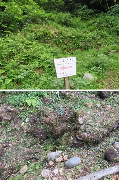 写真: 七尾城(石川県)樋の水