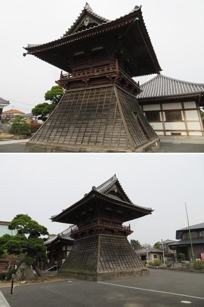 徳願寺(市川市本行徳)鐘楼