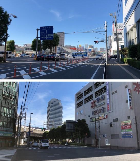 中山道 八幡通り交差点・上落合1丁目交差点(さいたま市中央区)