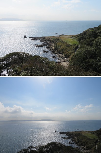 観音崎灯台より(横須賀市)鋸南