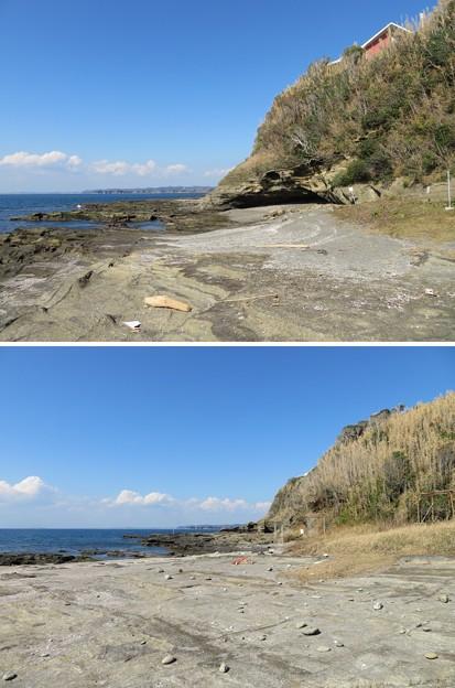 Photos: 新井城(三浦市)三方の海岸