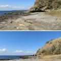 新井城(三浦市)三方の海岸