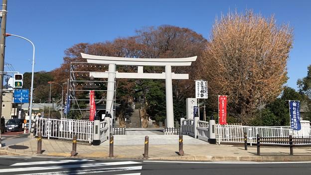 白幡神社(藤沢市)御典橋・大鳥居