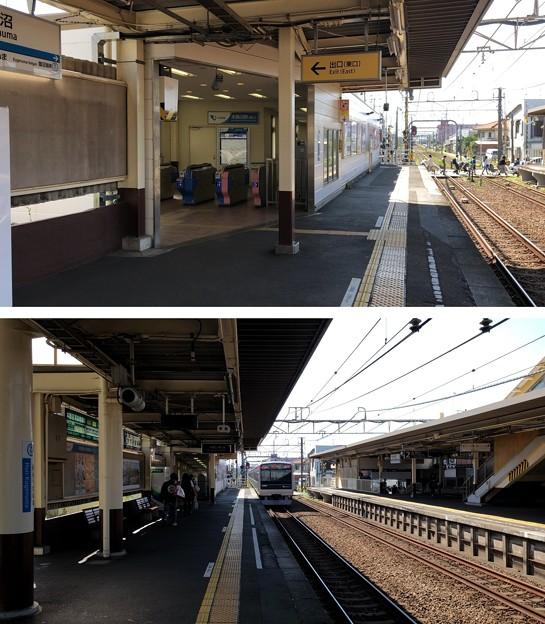 小田急江ノ島線 本鵠沼駅ホーム(藤沢市)東口
