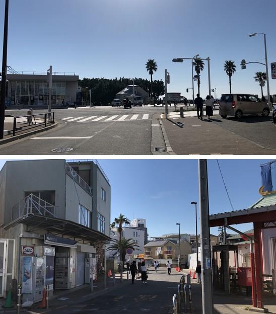 小田急江ノ島線 片瀬江ノ島駅前(藤沢市)片瀬江ノ島駅入口交差点