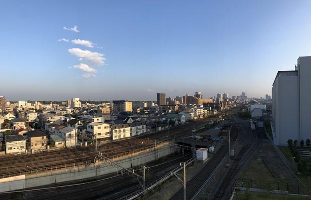 鉄道博物館(大宮区)トレインテラスより大宮中心部