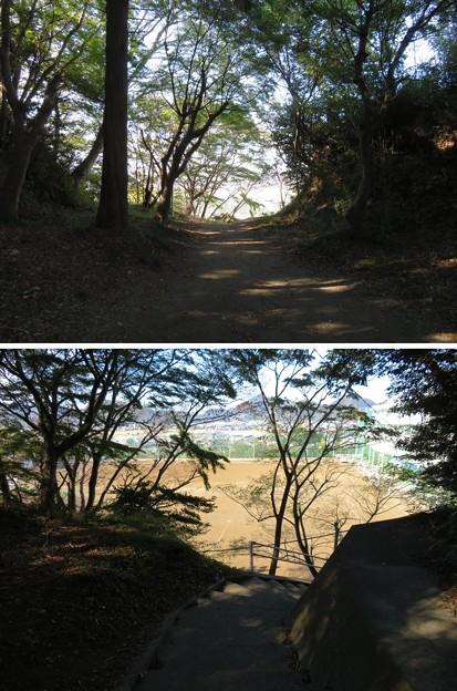 韮山城(伊豆の国市)三の丸・土塁・虎口