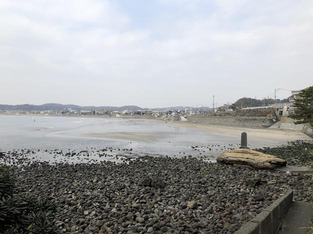 相模湾 材木座海岸(鎌倉市)立ち位置逗子市