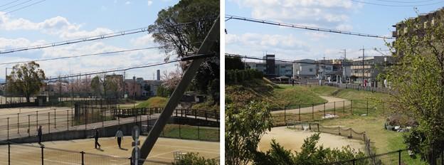 Photos: 恵解山古墳(JR京都線歩道橋。長岡京市)明智光秀本陣推定地