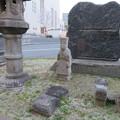 波野青畝句碑背後(中央区。大阪カテドラル聖マリア大聖堂)