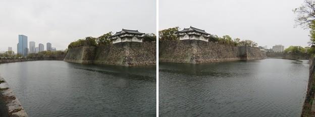 Photos: 大坂城(大阪府大阪市中央区)乾櫓・西外堀
