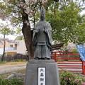Photos: 19.04.10.阿部野神社(大阪市阿倍野区)北畠顕家公像