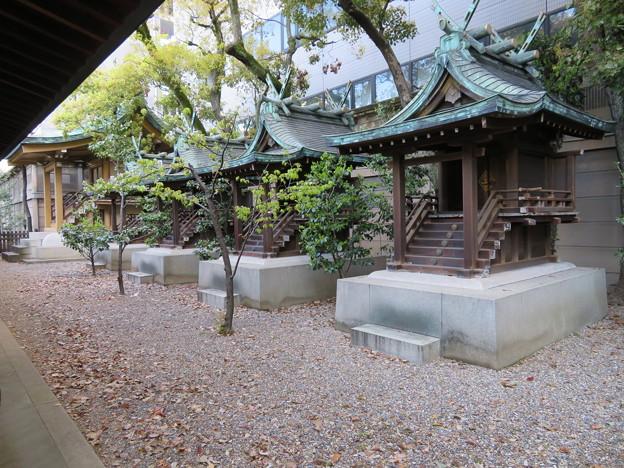 坐摩神社(いかすり。大阪市中央区)相殿・天満宮・大国主・繊維・大江
