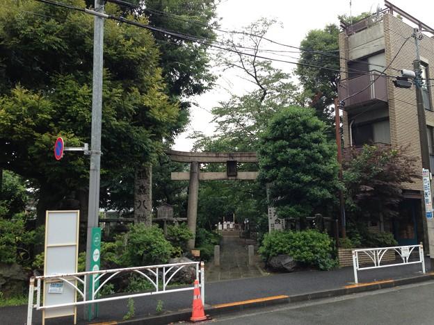 鳩森八幡神社(千駄ヶ谷八幡神社。渋谷区)東南鳥居