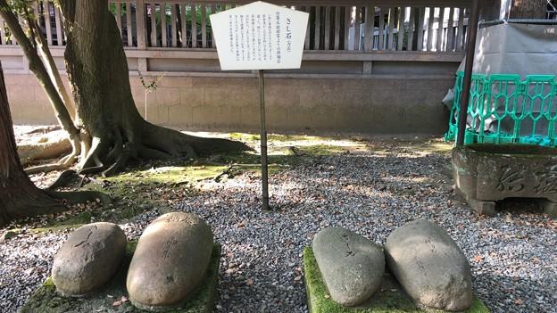 尾山神社(金沢市)さし石