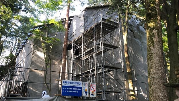 尾山神社(金沢市)本殿修繕中