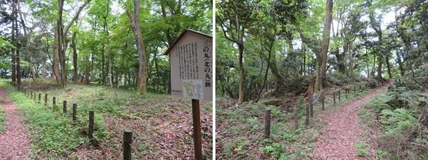 大聖寺城(石川県加賀市)三の丸・(右)堀切