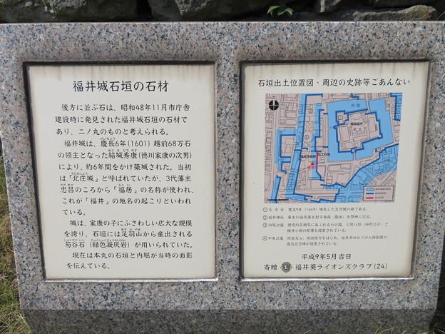福井城(福井市役所)御馬屋敷水堀跡