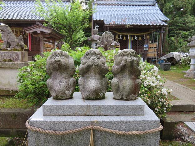 劔神社(越前町)庚申宮 三猿