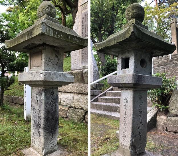 武田耕雲斎等墓(敦賀市)慶應四年石灯籠