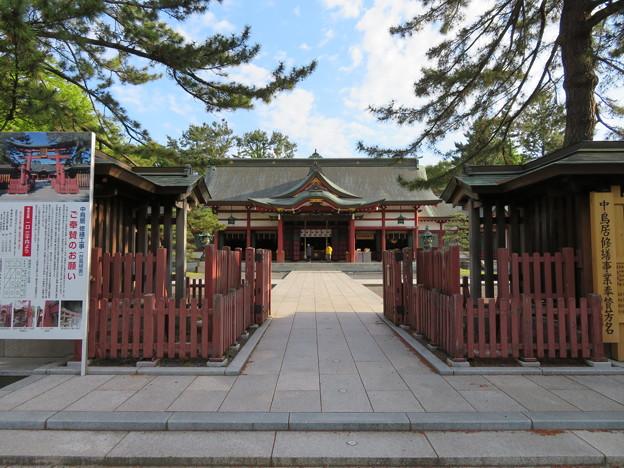 氣比神宮(敦賀市)外拝殿
