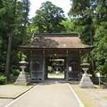 若狭姫神社(若狭彦神社下社。小浜市遠敷)楼門(随身門)