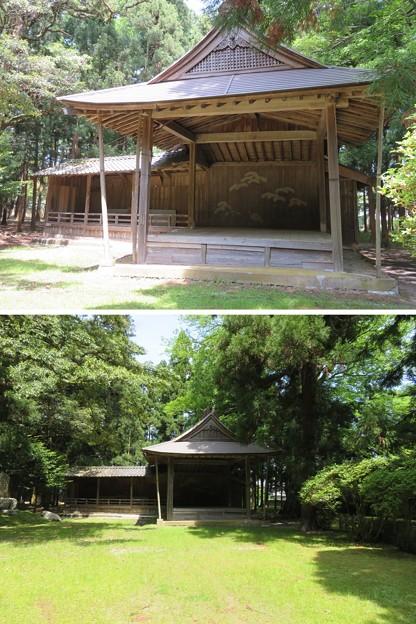 若狭姫神社(若狭彦神社下社。小浜市遠敷)能舞台