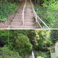 黒井城(兵庫県丹波市)登城口・急坂コース