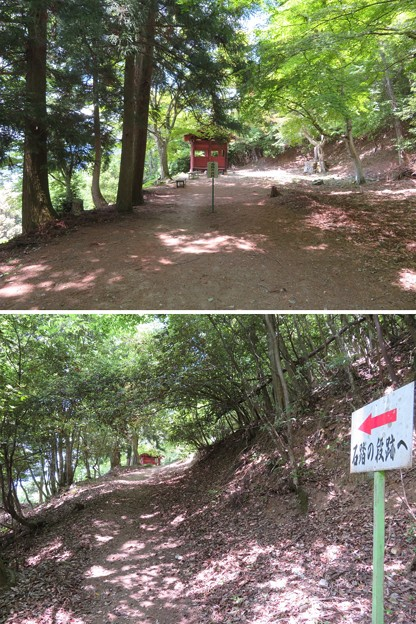 黒井城(兵庫県丹波市)石踏の段