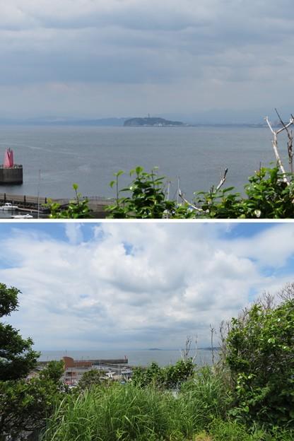鐙摺城(葉山町)より江の島