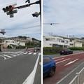 国道134号線 行合橋交差点(神奈川県鎌倉市七里ガ浜)