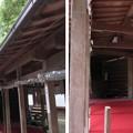 枚岡神社(東大阪市)鶏鳴殿 ・(右)御竃殿
