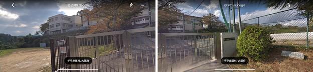 下赤坂城(南河内郡千早赤阪村)GoogleMap千早赤阪中学校