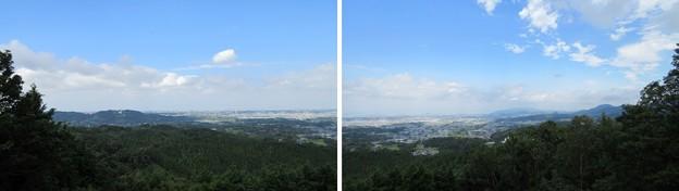 上赤坂城(南河内郡千早赤阪村)より北西・北