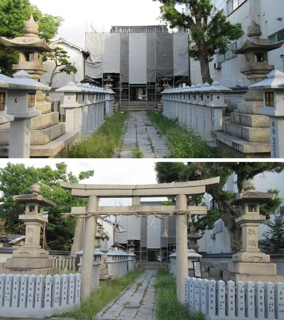 感田神社(貝塚市)裏神門
