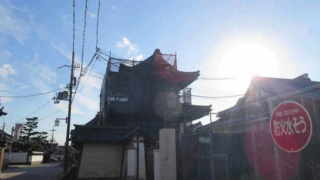 貝塚御坊 願泉寺(貝塚市)太鼓堂